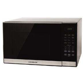 Living & Co Microwave 34 Litres 1100w Black / Stainless Steel