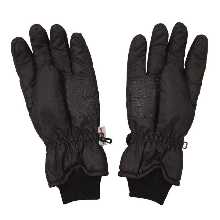 H&H Men's Ski Gloves, Black, hi-res