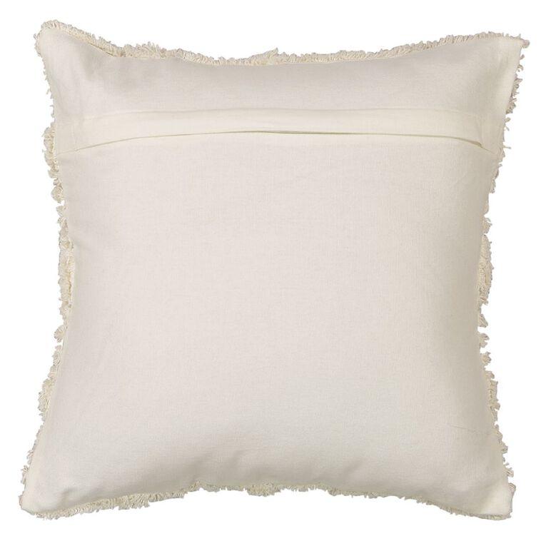 Living & Co Edith Tufted Cushion Ivory 45cm x 45cm, Ivory, hi-res