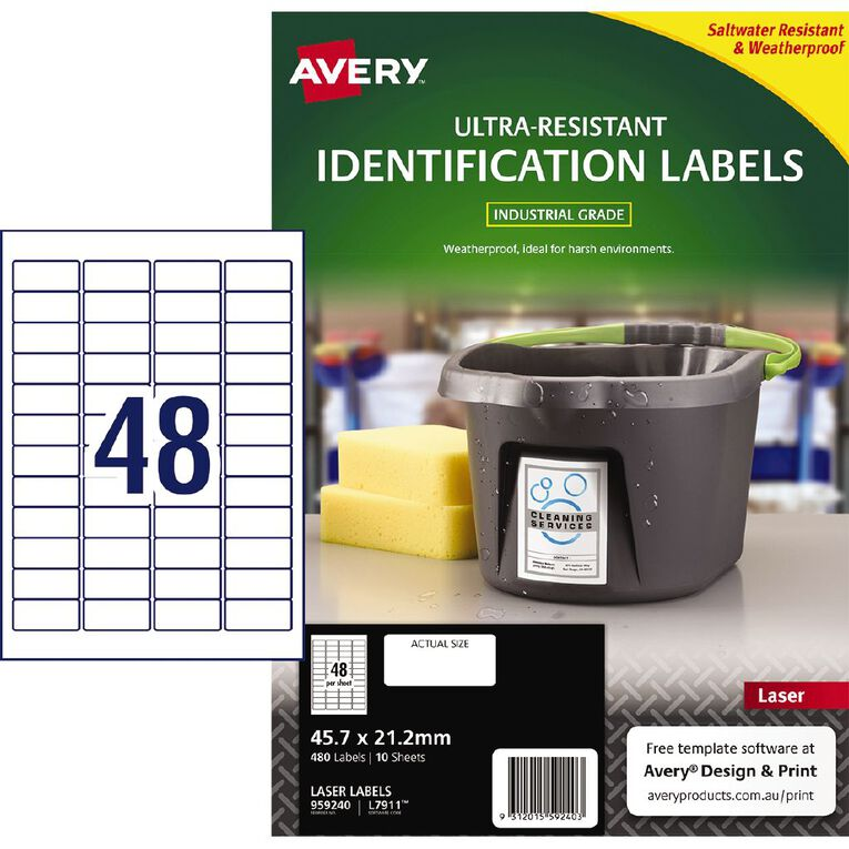Avery Ultra-Resistant Outdoor Labels White 480 Labels, , hi-res