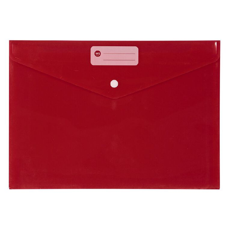 WS Document Envelope Single Dome Red, , hi-res