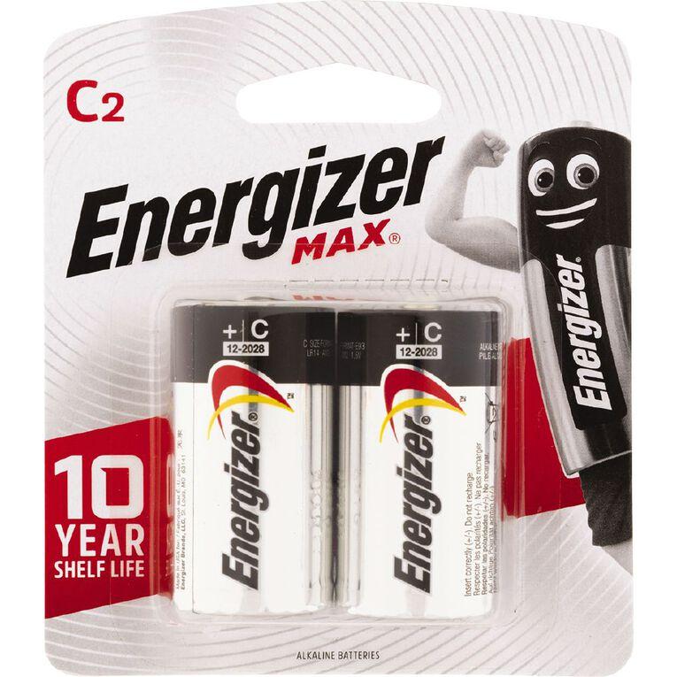 Energizer Max Batteries C 2 Pack, , hi-res