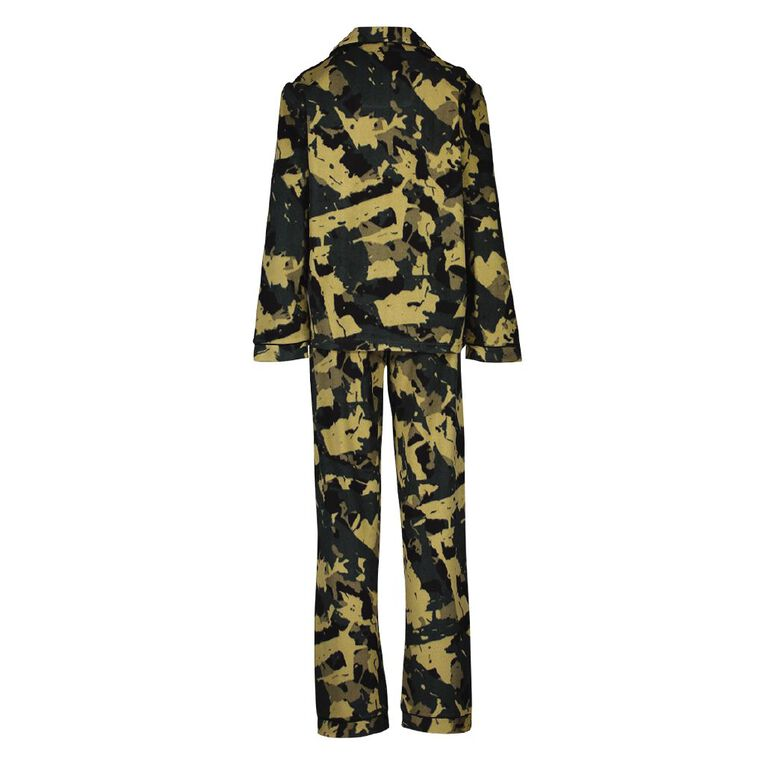 H&H Boys' Fleece Pyjamas, Green, hi-res