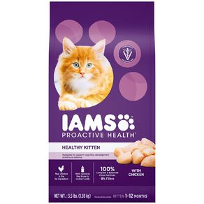Iams Proactive Health Kitten Dry Cat Food with Chicken 1.59kg Bag