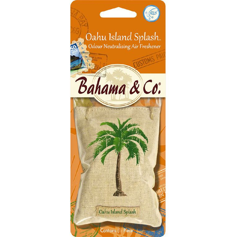 Bahama & Co Auto Air Freshener Scent Pouch Oahu Island Splash, , hi-res