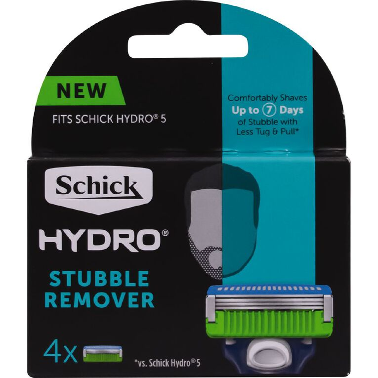 Schick Hydro Stubble Remover Blades 4 Pack, , hi-res