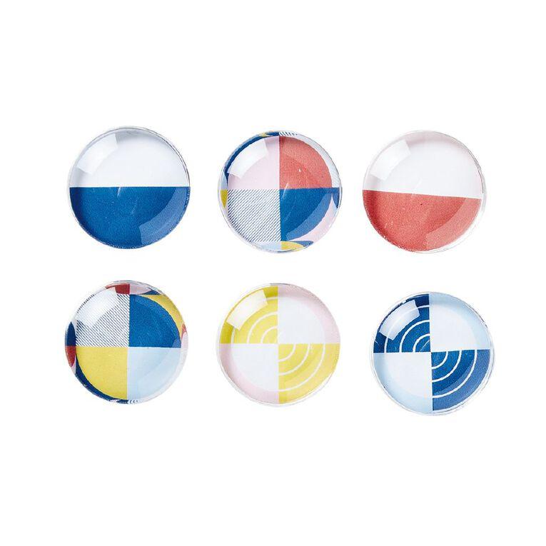 Uniti Geo Magnets 6 Pack Multi-Coloured, , hi-res