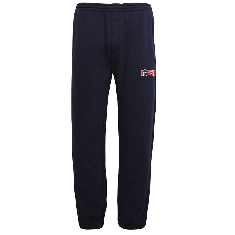 Schooltex Grantlea Downs Double Knee Trackpants with Embroidery, Navy, hi-res