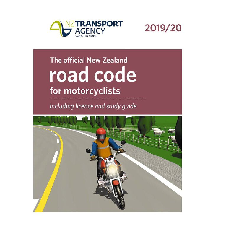 New Zealand Motorcyclists Road Code 2019/20 by NZ Transport Agency, , hi-res