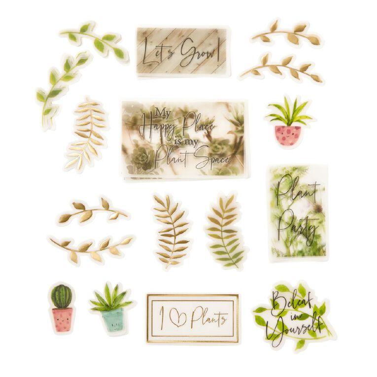 Uniti Plant Lady Vellum Die Cut Shapes, , hi-res