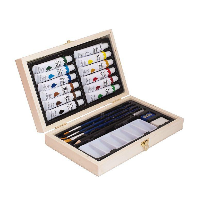 Jasart Mini Wooden Box Acrylic Set 20 Piece, , hi-res