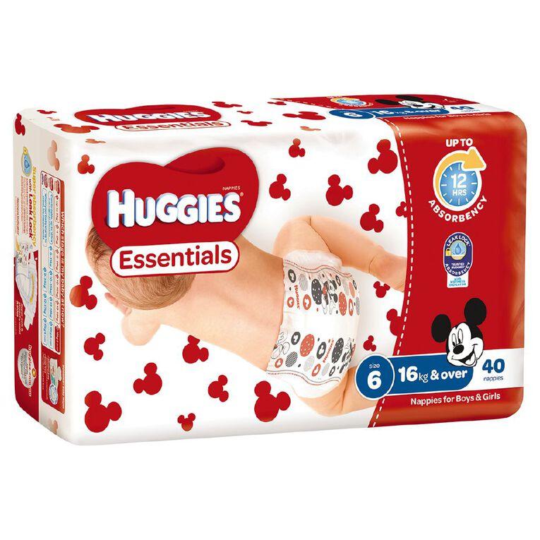 Huggies Essential Nappy Junior 40 pack, , hi-res
