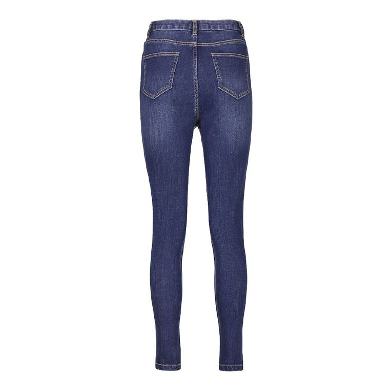 H&H Women's High Rise Skinny Jeans, Denim Mid, hi-res
