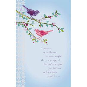 John Sands Female Birthday Card Birds on Tree