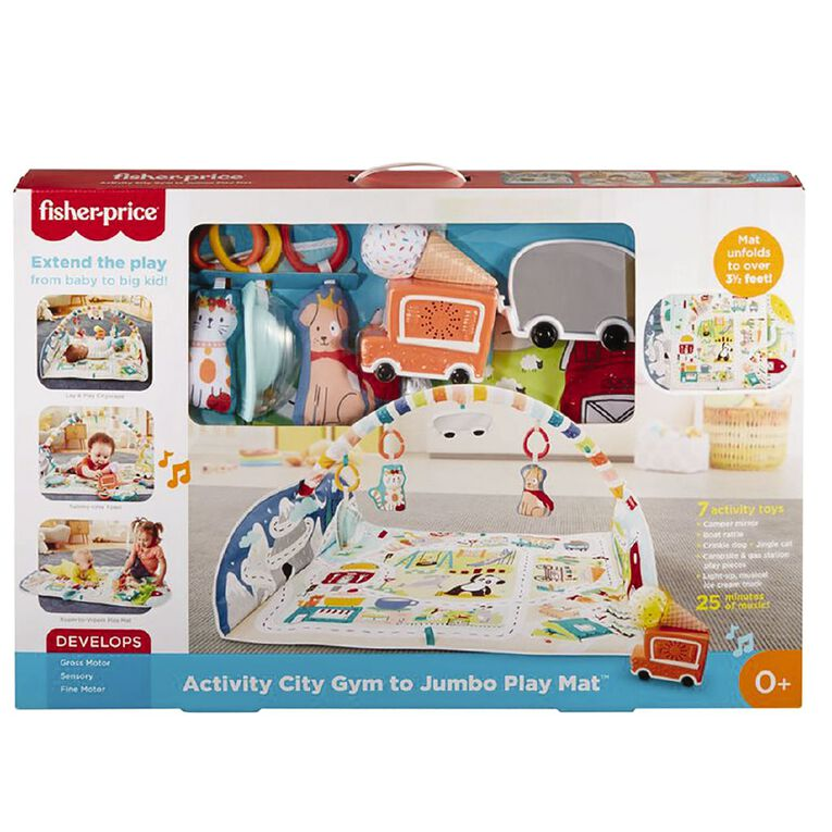 Fisher-Price Activity City Gym to Jumbo Playmat, , hi-res