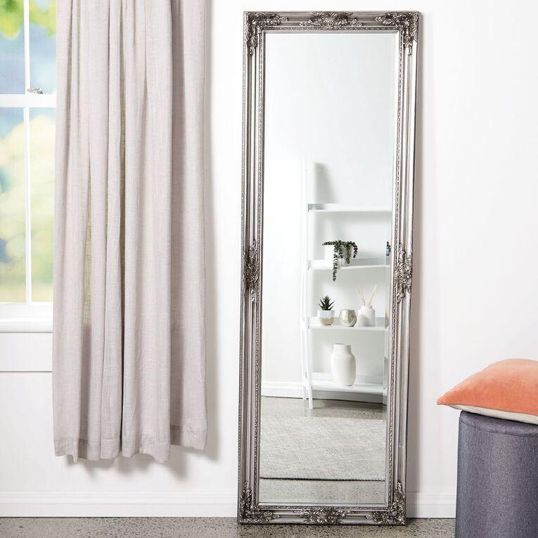Living & Co Mirror Carlisle Tall Brushed 60 x 180cm Silver, , hi-res