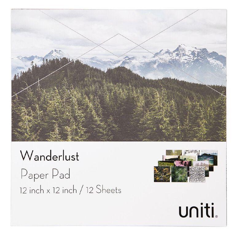 Uniti Wanderlust Paper Pad 12in x 12in, , hi-res