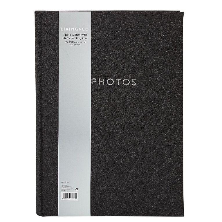 Living & Co Photo Album Black 4in x 6in 300 Pockets, , hi-res