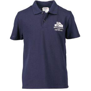 Schooltex Paroa Greymouth Short Sleeve Polo with Embroidery
