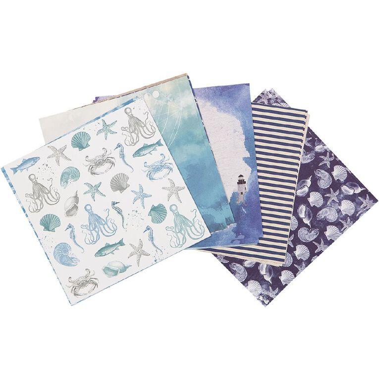 Uniti Mini Paper Stack Designer 6x6 24 Sheet Oceania, , hi-res image number null