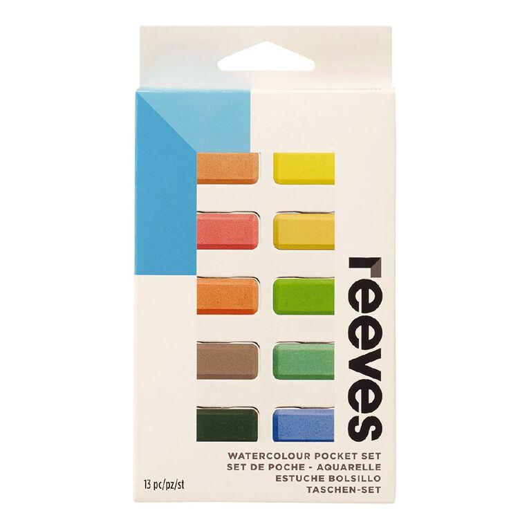 Reeves Watercolour Pocket Set Multi-Coloured, , hi-res