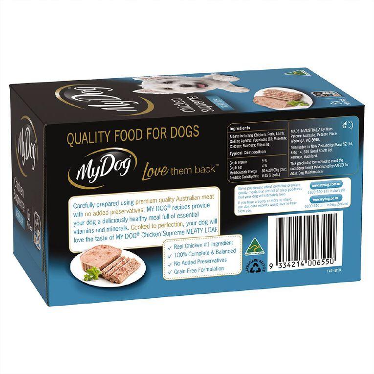 My Dog Wet Dog Food Chicken Supreme Meaty Loaf 6 x 100g Trays, , hi-res