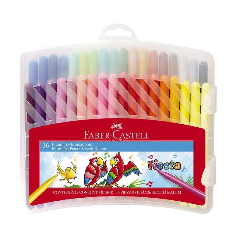 Faber-Castell Fiesta Fibre-tip Pens Plastic Case of 36, , hi-res