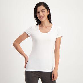 H&H Women's Scoop Neck Short Sleeve Tee