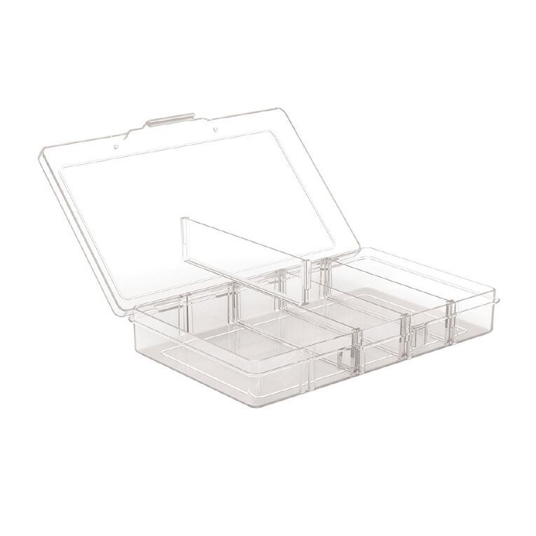 Living & Co Storage Box 5 Compartment Clear, , hi-res