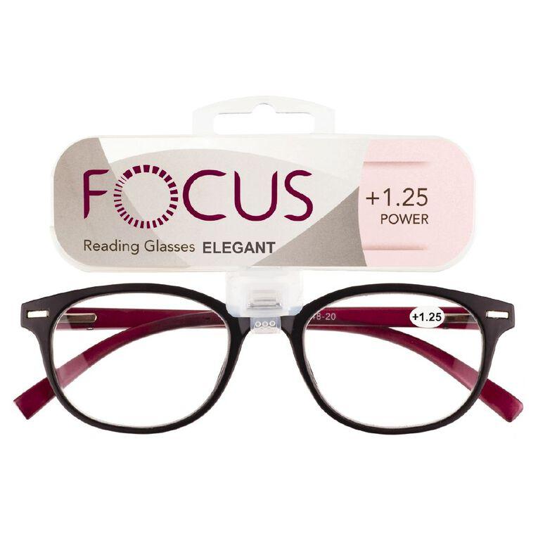 Focus Reading Glasses Elegant Power 1.25, , hi-res