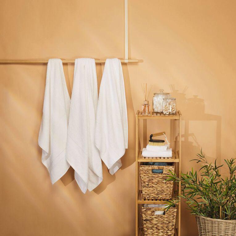 Living & Co Naturals Spa Towel Bamboo Blend White 90cm x 150cm, White, hi-res