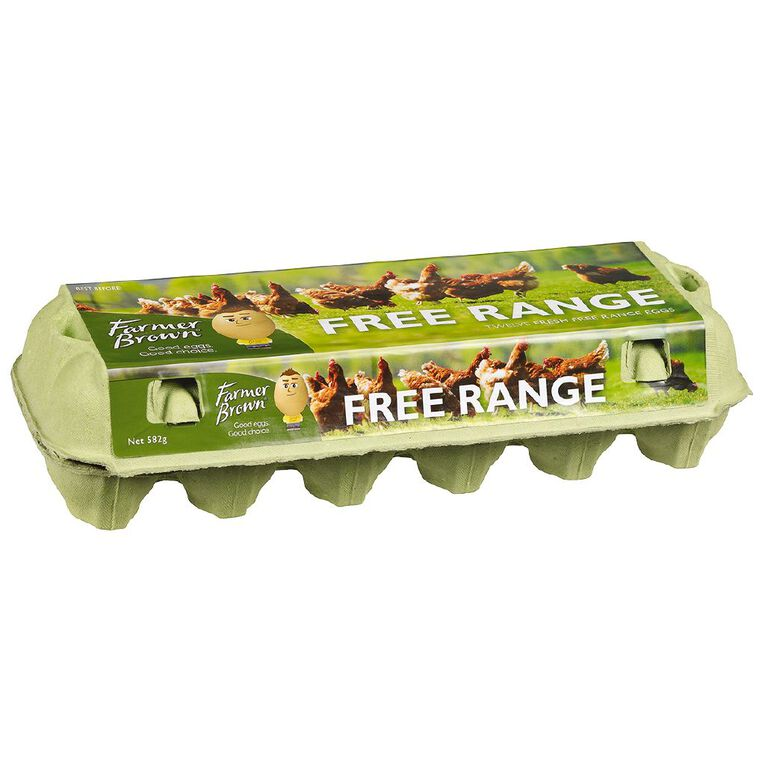 Farmer Brown Free Range Mixed Grade Eggs 12 Pack, , hi-res