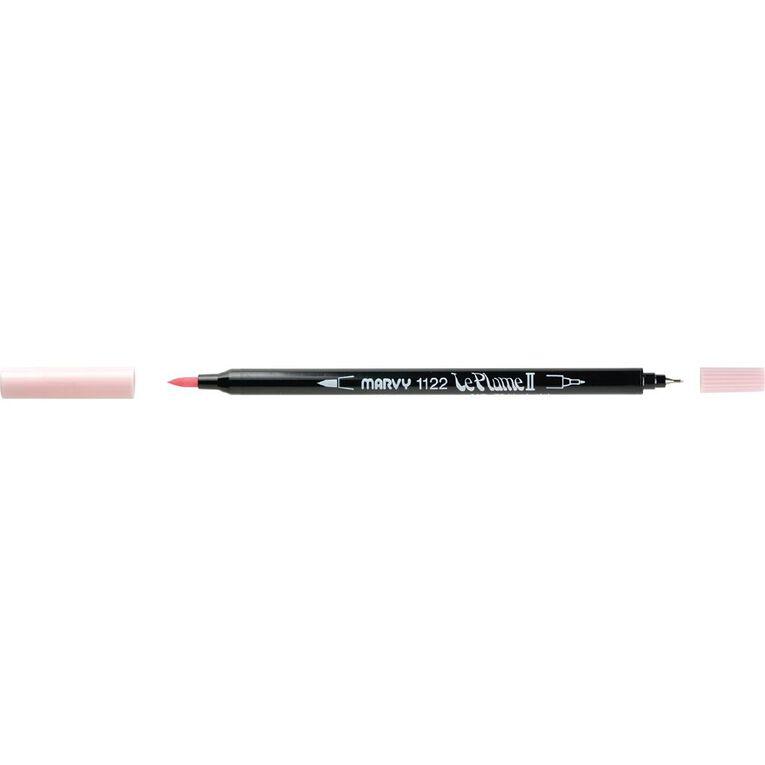 MARVY Le Plume II Dual Tip Marker Blush Pink, , hi-res