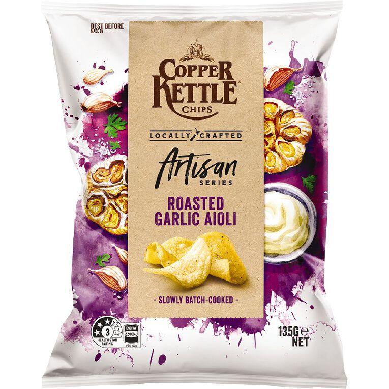 Copper Kettle Artiisan Roasted Garlic Aioli 135g, , hi-res