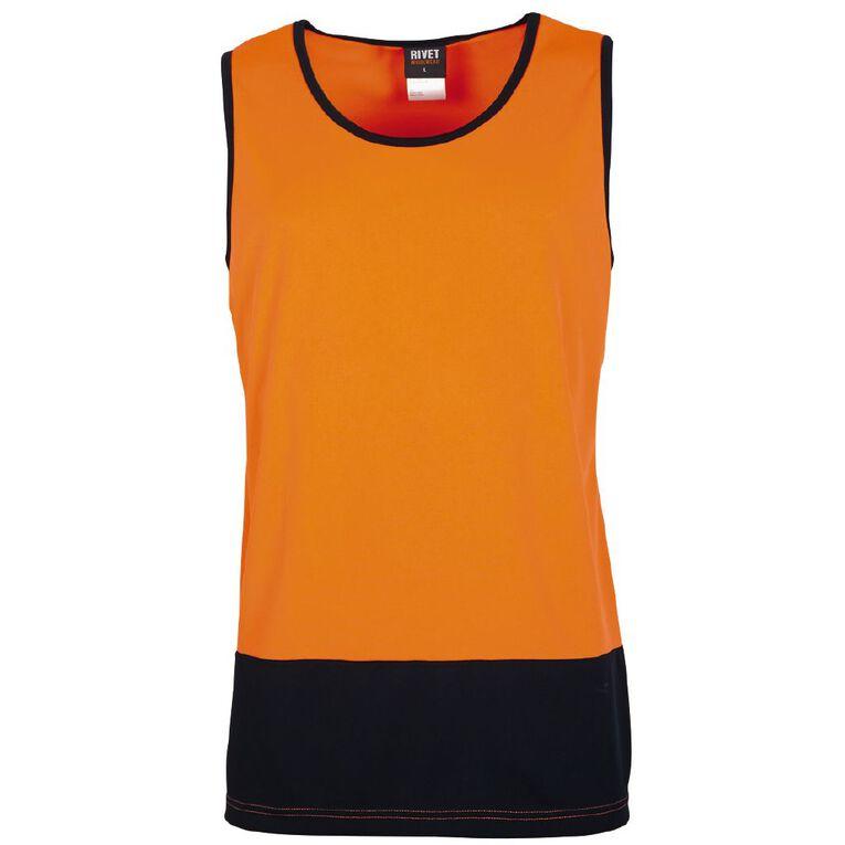 Rivet Compliant Fluoro Singlet, Orange, hi-res image number null