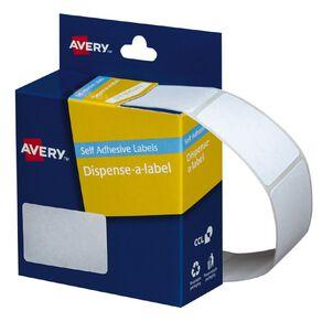 Avery White Rectangle Dispenser Stickers 49x35mm 220 Labels Handwritable