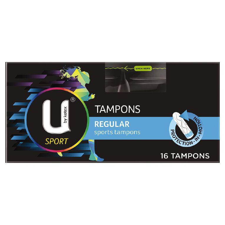 U By Kotex Tampons Sport Regular 16 Pack, , hi-res