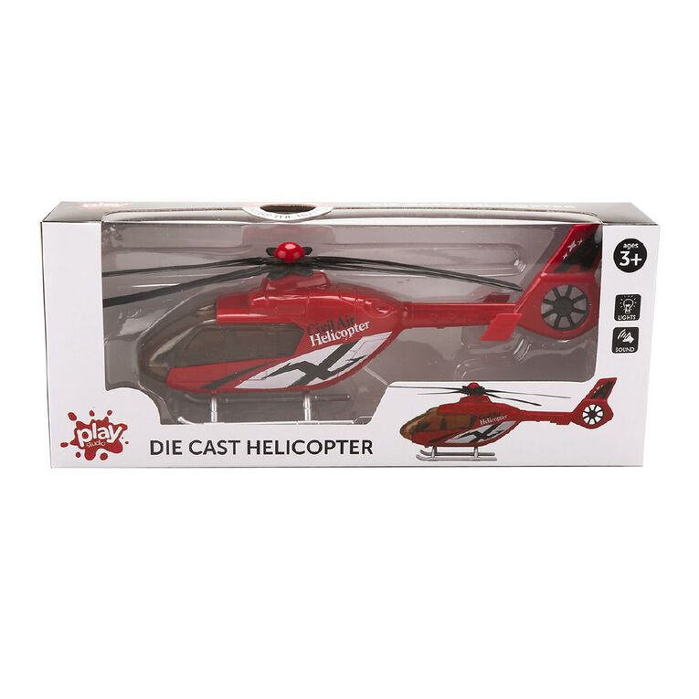 Play Studio Die-Cast Freewheel Helicopter 1:48 Assorted, , hi-res image number null