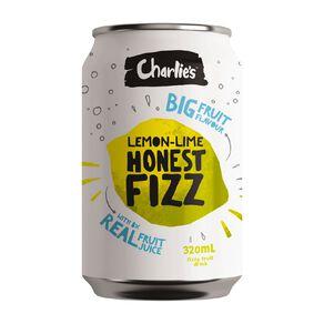 Charlie's Honest Fizz Lemon/Lime 12 Pack 320ml