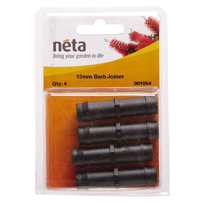 Neta Micro Irrigation Barb Joiner 4 Pack 13mm, , hi-res