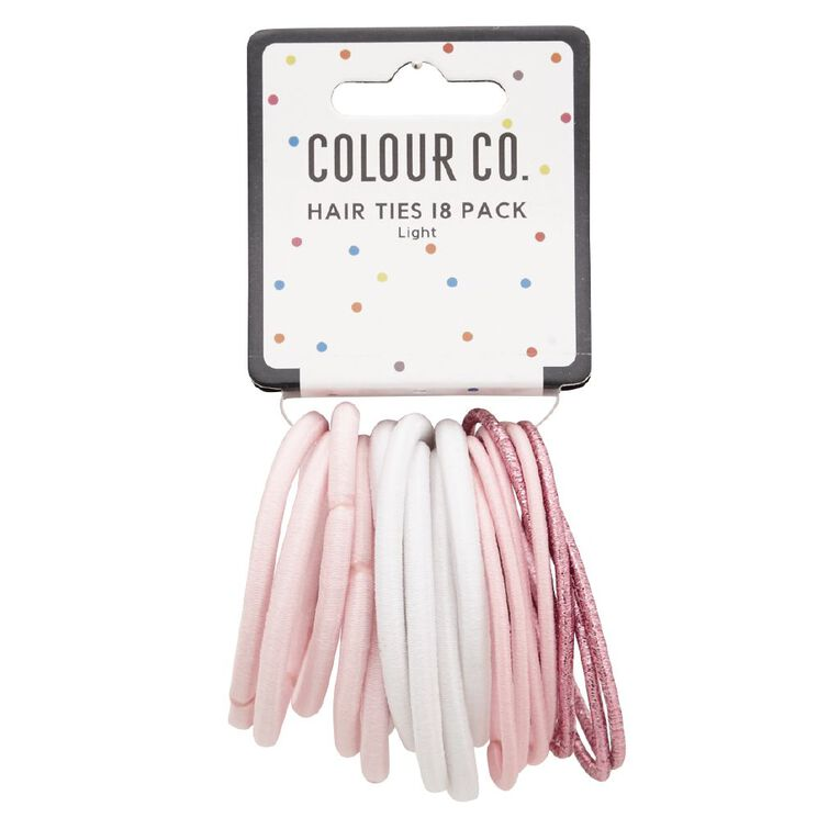 Colour Co. Hair Ties Light 18 Pack, , hi-res