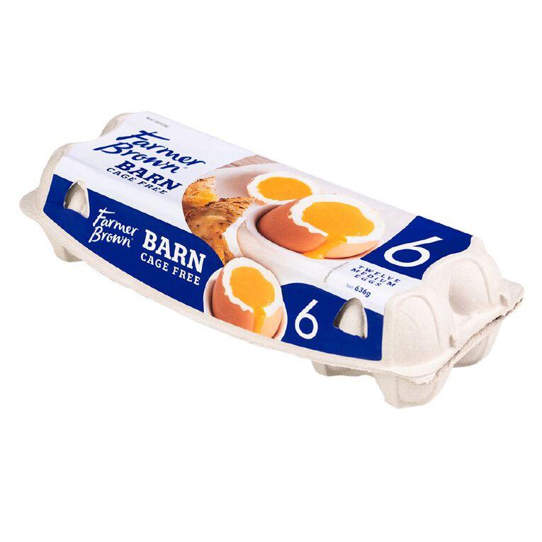 Farmer Brown Barn Grade 6 Eggs 12 Pack, , hi-res
