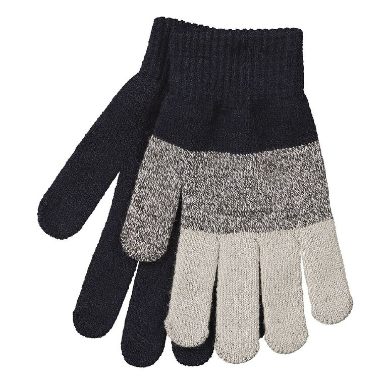 Young Original Kids' Two Pack Gloves, Navy W20, hi-res