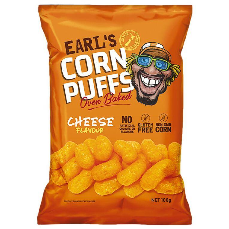 Earl's Corn Puffs Cheese Flavour 100g, , hi-res