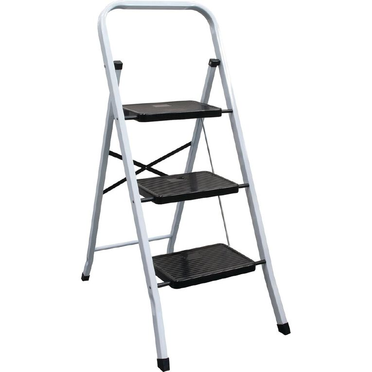 Bulldog 3 Step Steel Ladder, , hi-res
