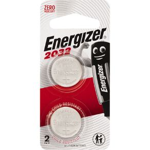 Energizer Lithium Coin Batteries 2032 3 Volt 2 Pack