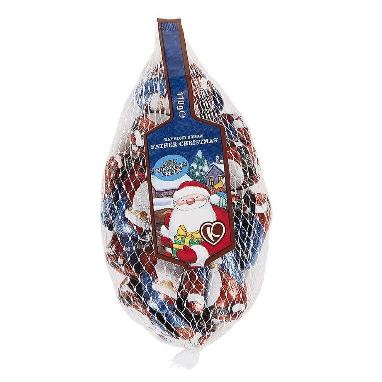 Kinnerton Chocolate Santas In Net 110g, , hi-res