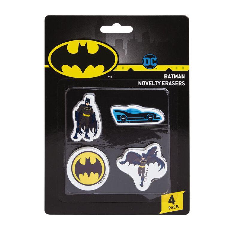 Batman Warner Bros Erasers 4 Pack Multi-Coloured, , hi-res