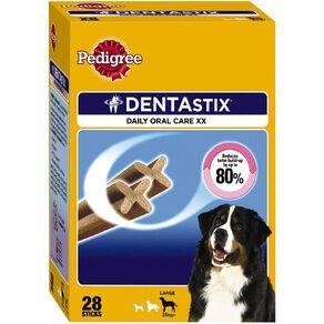 Pedigree Dentastix Dog Treats Daily Oral Care Large Dog 28 Sticks