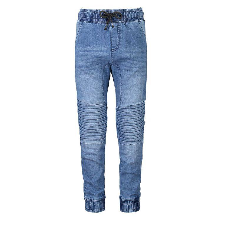 Young Original Boys' Pintuck Cuff Jeans, Denim, hi-res